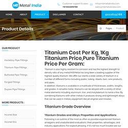Titanium Cost Per Kg, 1Kg Titanium Price,Pure Titanium Price Per Gram