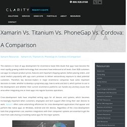 Xamarin Vs. Titanium Vs. PhoneGap Vs. Cordova: A Comparison