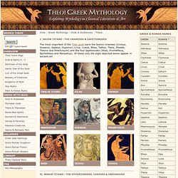 Titans of Greek Mythology THEOI.COM