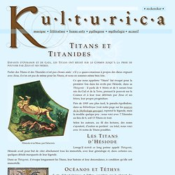 Les Titans et les Titanides