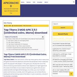 Tap Titans 2 MOD APK 3.11.1 (Unlimited coins, Mana) download