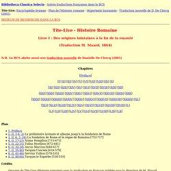 Tite-Live - Histoire romaine - Livre I