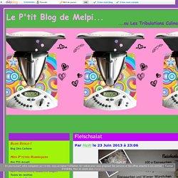Mes P'tites recettes Thermomixiennes - Le P'tit Blog de Melpi