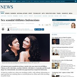Sex scandal titillates Indonesians