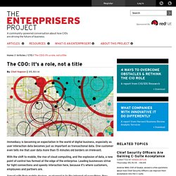 The CDO: It's a role, not a title