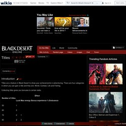Titles - Black Desert Wiki - Wikia