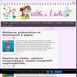 TitLine à l'école, partage de ressources GS CP