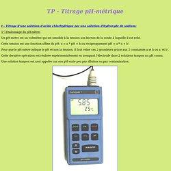 Titrage pH-métrique