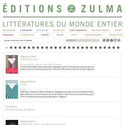 Titres - Editions Zulma