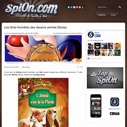 Les titres honnêtes des dessins animés Disney