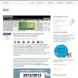 Guía oficial de titulaciones y postgrados 2012/2013: ¿qué quieres estudiar?