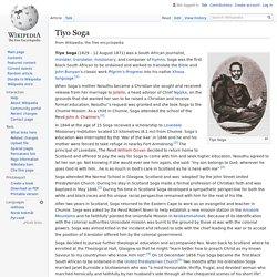 Tiyo Soga - Wikipedia