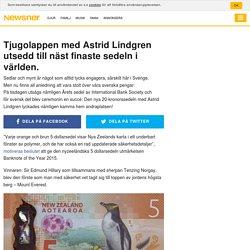 Tjugolappen med Astrid Lindgren utsedd till näst finaste sedeln i världen.