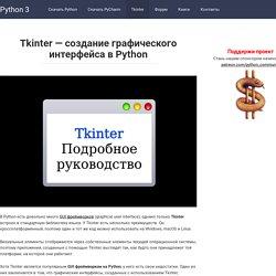 Полный курс по изучению Tkinter + Примеры