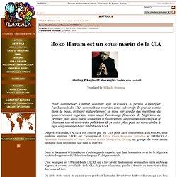 Boko Haram sous-marin de la CIA