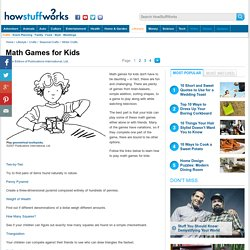 Math Games for Kids""