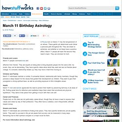 March 11 Birthday Astrology""