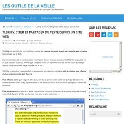 TLDRify. Citer et partager du texte depuis un site web
