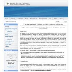 Univ Tlemcen / Sciences Economie et Gestion