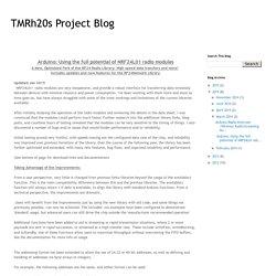 TMRh20s Project Blog