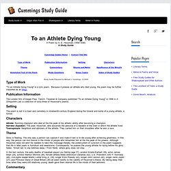 Athlete Dying Young Poem
