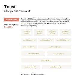 A Simple CSS Framework