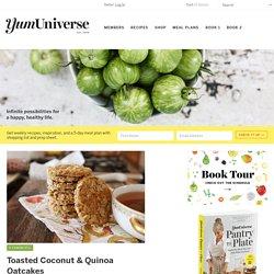 Toasted Coconut & Quinoa Oatcakes - YumUniverse