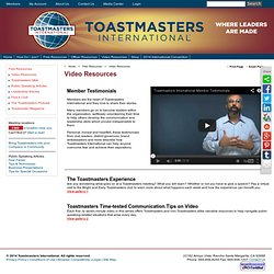 "International - <i><FONT color=7C2128"">New!</FONT></i> Toastmasters Time-Tested Communication Tips on Video<BR>"