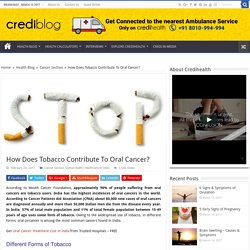 How Does Tobacco Contribute To Oral Cancer?