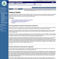Tobacco Smoke | Radiation Protection