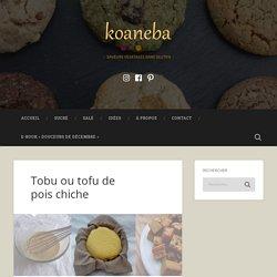 Tobu ou tofu de pois chiche – koaneba