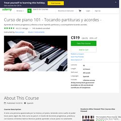 Curso de piano 101 - Tocando partituras y acordes -