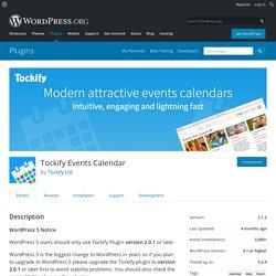 Tockify Events Calendar – WordPress plugin