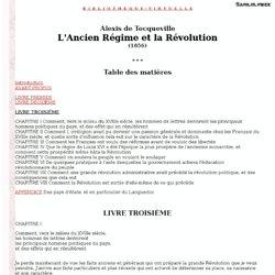 Tocqueville - l'Ancien Régime et la Révolution - Livre III