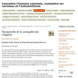 Tocqueville et la conquête de l'Algérie