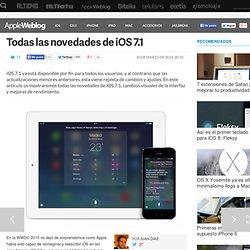 Todas las novedades de iOS 7.1