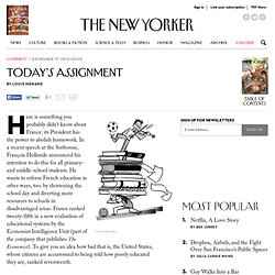 Today's Assignment - The New Yorker