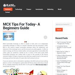 Helpful MCX Free Tips Today by MCXadda Financial Advisor