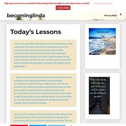 Today's Lessons - BecomingLinda