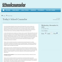 Today's School Counselor - ASCA School Counselor