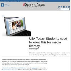USA Today: Students need to know this for media literacy