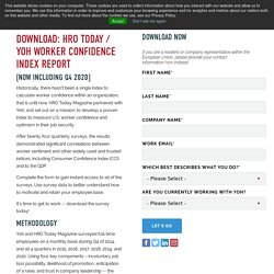 HRO Today Worker Confidence Index