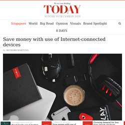 Save money with use of Internet-connected devices