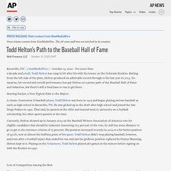 Todd Helton's Path to the Baseball Hall of Fame