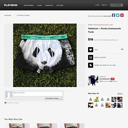 Caleçon panda
