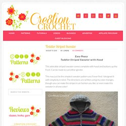 Toddler Striped Sweater - Cre8tion Crochet