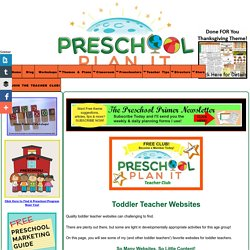 Toddler Teacher Websites