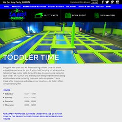 Bring The Wee Ones Into Trampoline Park During Toddler Time - Air Riderz