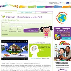 Children's Music Classes- Toddler, Preschooler, Infant Music Instruction - KinderMusik.com