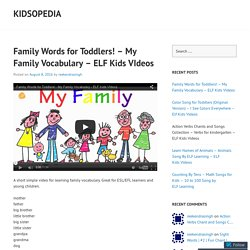 Family Words for Toddlers! – My Family Vocabulary – ELF Kids VIdeos